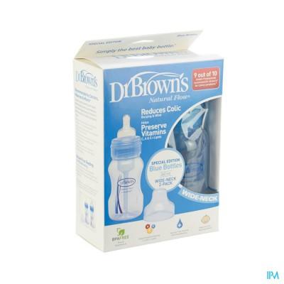 Dr Brown Zuigfles 2x240ml Pp Blauw Escos