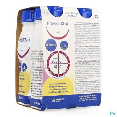 Provide Xtra Drink Ananas-sinaas Fl 4x200ml