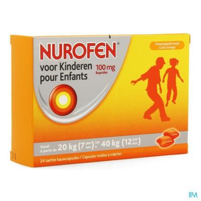 Nurofen Kind 100mg Zachte Kauwcaps 24