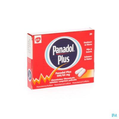 Panadol Plus 500mg/65mg Filmomh Tabl 20