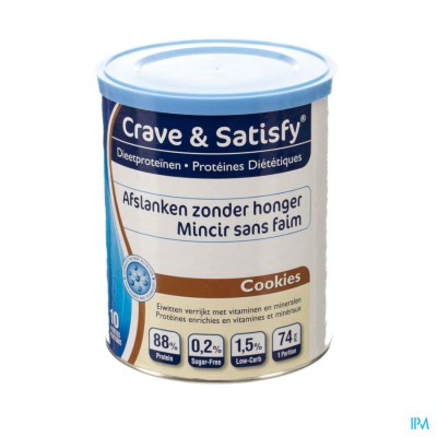 Crave & Satisfy Dieetproteinen Cookies Pot 200g