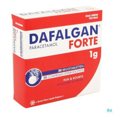 Dafalgan Forte 1g Bruistabletten 20