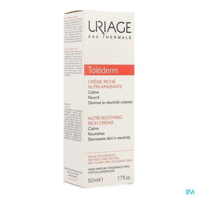 Uriage Tolederm Riche Creme Dh Pompfles 50ml