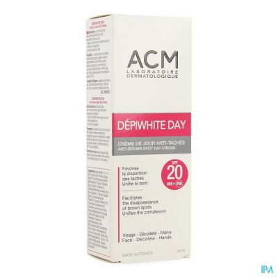 Depiwhite Day Ip20 Dagcreme Tube 40ml
