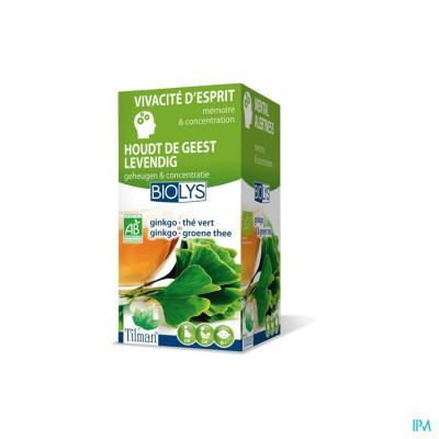 Biolys Ginkgo-groene Thee Tisane Tea-bags 20