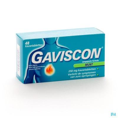Gaviscon Munt Kauwtabletten 48 X 250mg