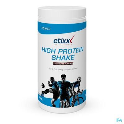 Etixx High Protein Shake Chocolate Pdr 1000g