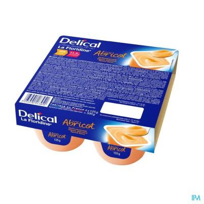 Delical Creme Dessert La Floridine Abrikoos 4x125g
