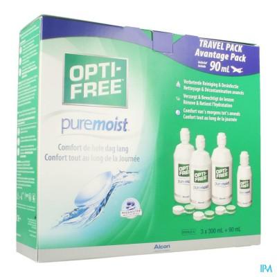Opti-free Puremoist M.purpos.desinf.3x300ml+3 Etui