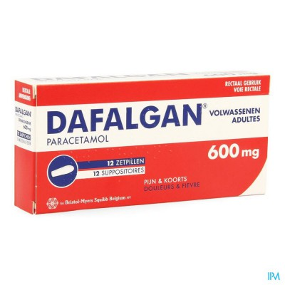 Dafalgan 600mg Suppos 12