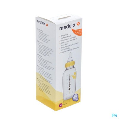 Medela Moedermelkflesje 250ml+speen Medium Flow