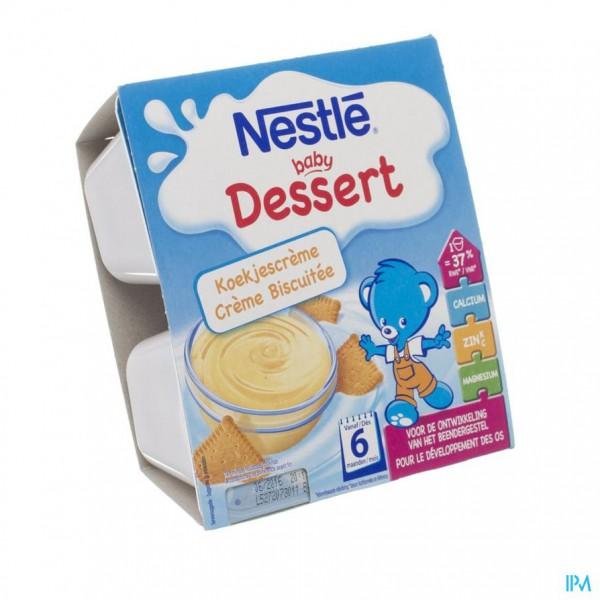 Nestle Baby Dessert Koekjescreme Pot 4x100g