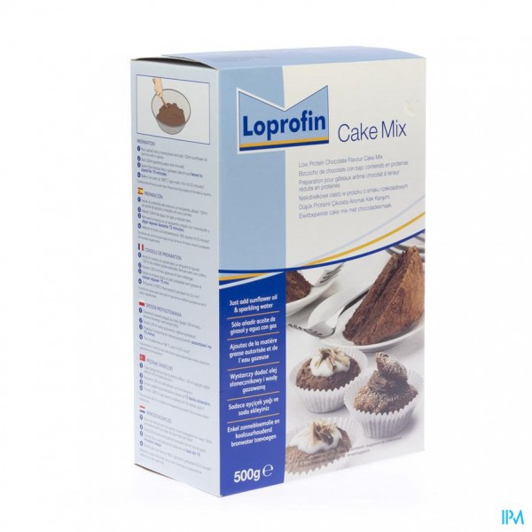 Loprofin Cake Mix Chocolade Pdr 500g