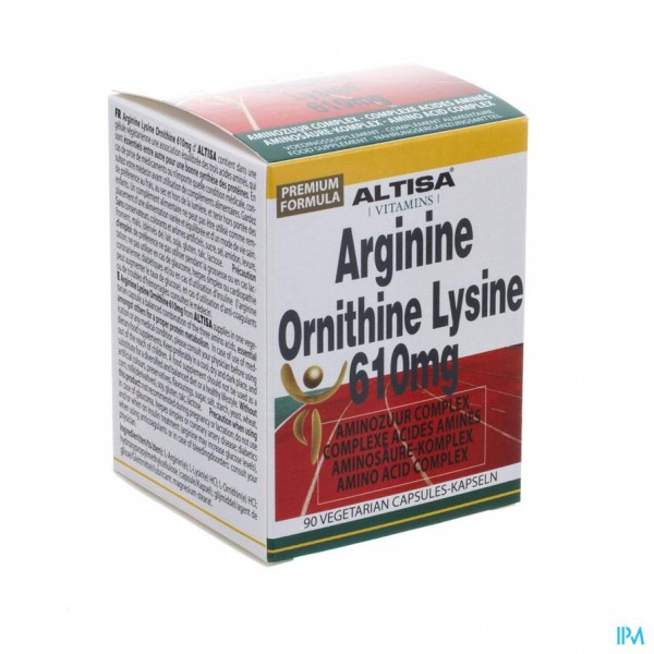 Altisa Arginine Ornithine Lysine V-caps 90 151038