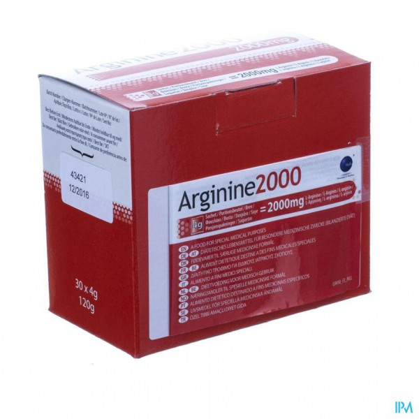Arginine 2000 Pdr Zakje 30x4g