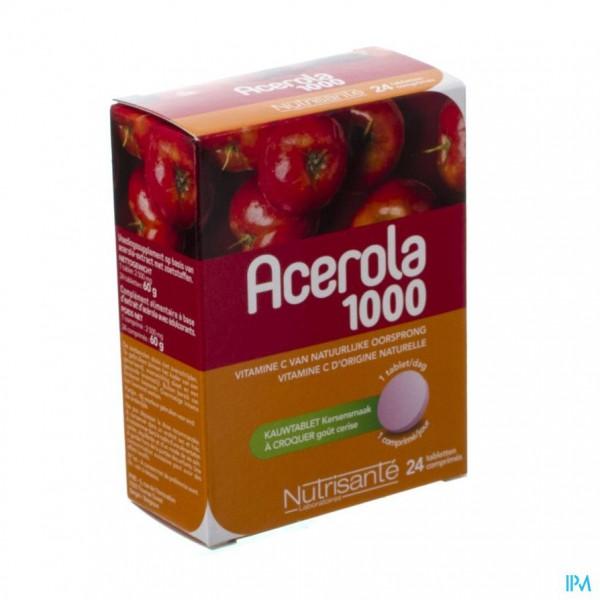 Acerola 1000mg Kauwtabl 24