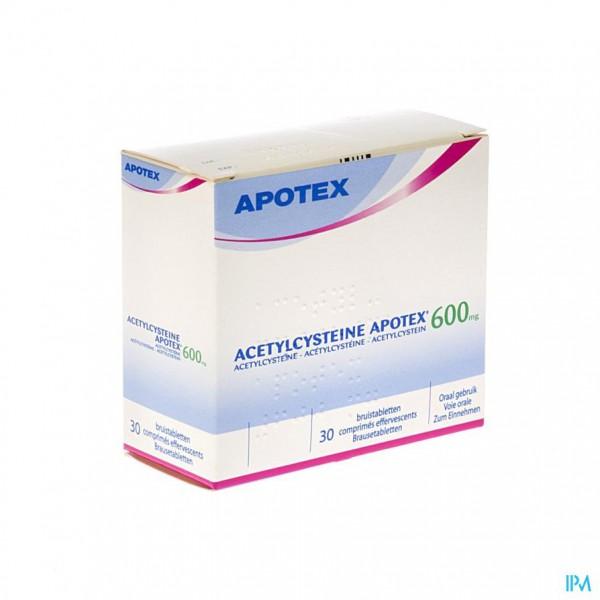 Acetylcysteine Apotex Comp Eff 30 X 600mg