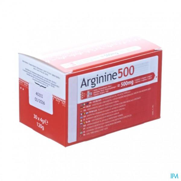 Arginine 500 Pdr Zakje 30x4g