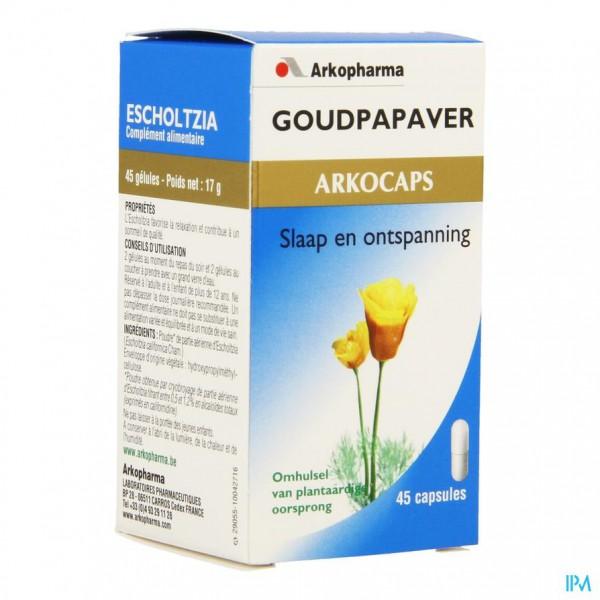 Arkocaps Goudpapaver Plantaardig 45