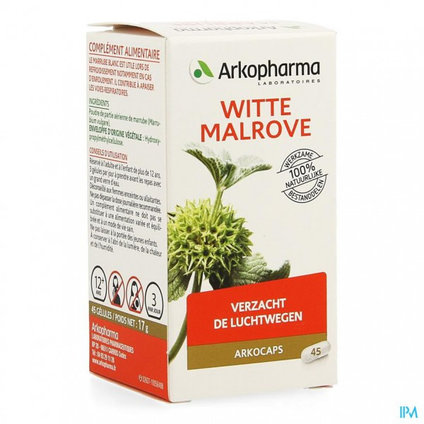 Arkocaps Witte Malrove Plantaardig 45