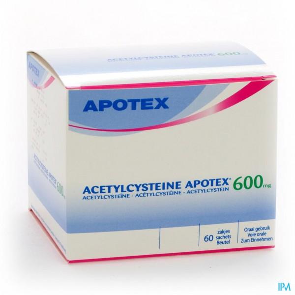 Acetylcysteine Apotex Sach 60 X 600mg