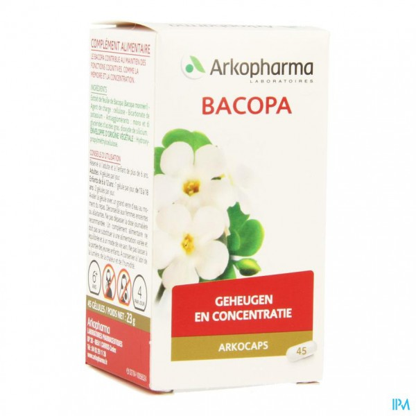 Arkocaps Bacopa Plantaardig 45